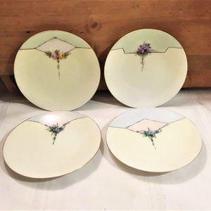Caine's Studio Iris Plates Hand Painted & Signed